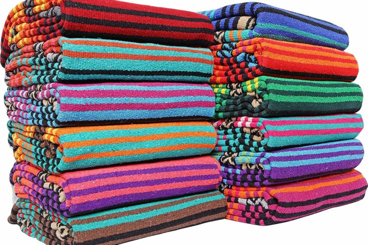 Classic Mexican El Paso Peyote Hippie Blanket